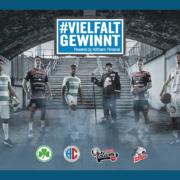 Vielfalt gewinnt – unsere gemeinsame Initiative mit den Profisportvereinen HC Erlangen, Nürnberg Falcons, SpVgg Greuther Fürth und den THOMAS SABO Ice Tigers.